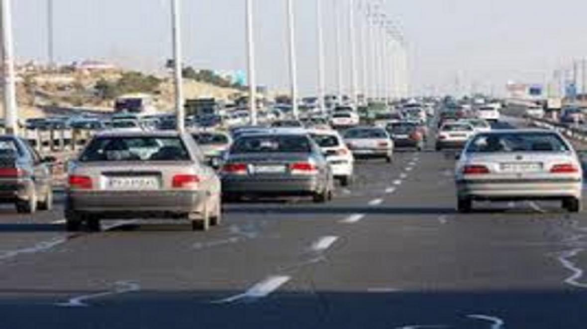 افزایش 9 درصدی تردد خودرو ها در راه های استان اصفهان